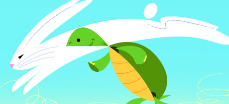 Cuento en inglés para niños: The Hare and the turtle
