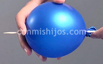Como Pinchar Un Globo Sin Que Explote Experimento Para Ninos - Experimentos-para-nios-con-globos