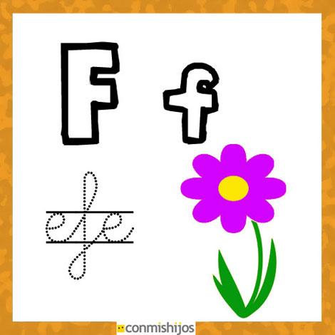 Fichas para aprender las letras y colorear letra f for El dibujo de los arquitectos pdf