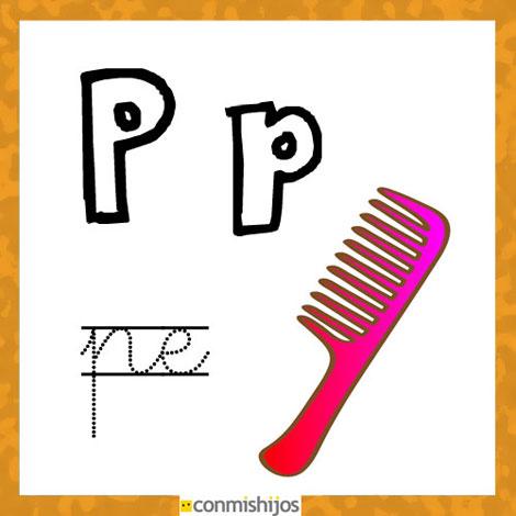 Fichas Para Aprender Las Letras Y Colorear Letra P