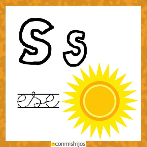 Fichas Para Aprender Las Letras Y Colorear Letra S