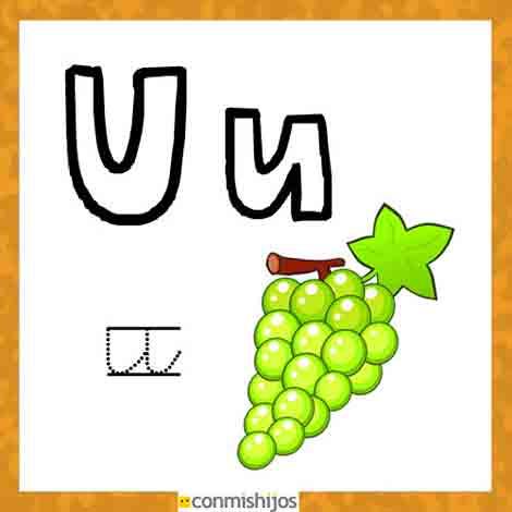 Objetos con la letra u para niños - Imagui