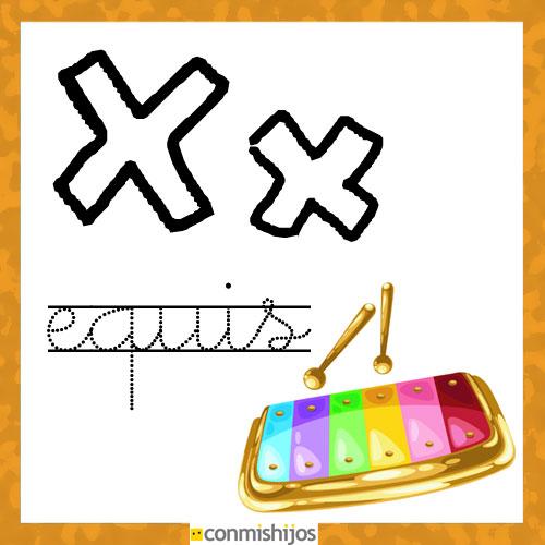 Fichas Para Aprender Las Letras Y Colorear Letra X