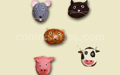 Manualidades. Animales con nueces. Paso 5