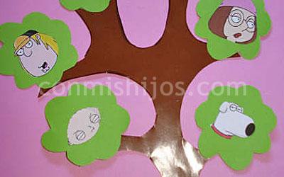 árbol Genealógico Manualidades Con Cartulina Para Niños