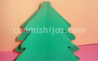 rbol de Navidad en 3D Manualidades infantiles con cartulina
