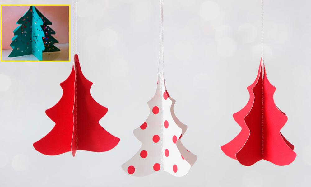 Arbol De Navidad En 3d Manualidades Infantiles Con Cartulina