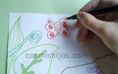 Bichitos Del Jardín Dibujos Paso A Paso Para Niños Pequeños