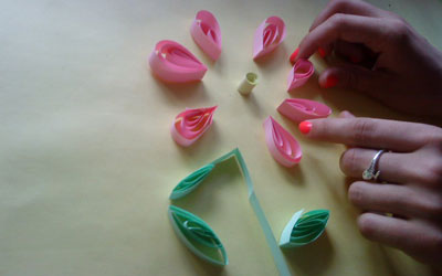Flor Enrollada Manualidades Para Ninos Con Papel