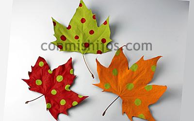 M vil de hojas y calabazas manualidades de decoraci n - Calabazas decoradas manualidades ...