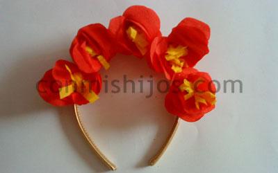manualidad diadema de flores paso 5 - Como Hacer Diademas De Flores