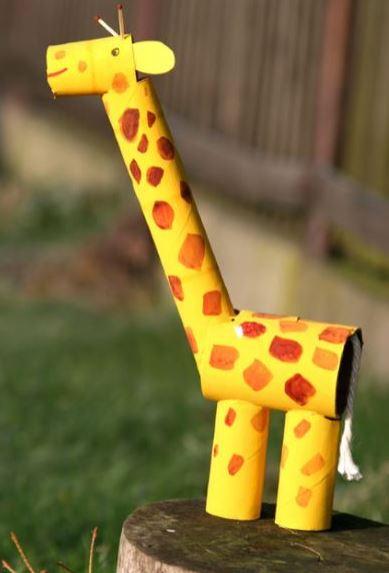 Jirafa de papel manualidad para ni os for Actividades con cartulina para ninos