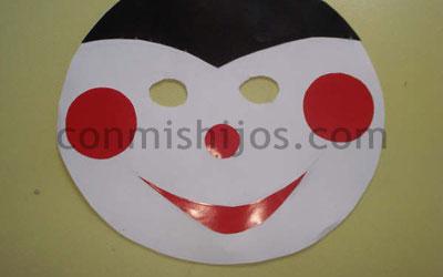 M scara de mariquita manualidad de carnaval para ni os - Como hacer una mascara ...