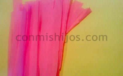Manualidad peluca rosa. Paso 1.