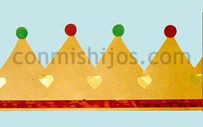 Coronas Para Decorar Cuadernos.Coronas De Reyes Manualidad Para La Fiesta De Los Ninos