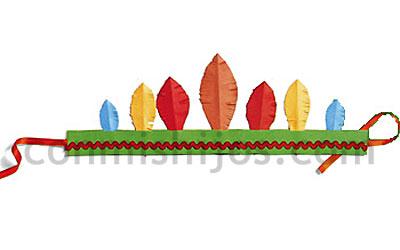 Disfraz de indio manualidad de Carnaval para nios
