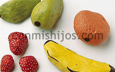 Cocofrutero manualidad infantil con piedras para reciclar - Fresas para piedra ...