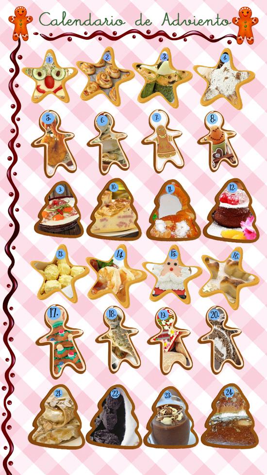Calendario de adviento digital de recetas de navidad para for Calendario adviento ninos