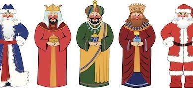 Fotos Papa Noel Reyes Magos.Significado De Papa Noel Y Los Reyes Magos Para Los Ninos