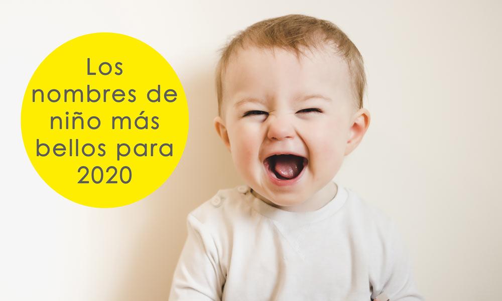 Tendencias de nombres para niño en 2020. Los nombres para