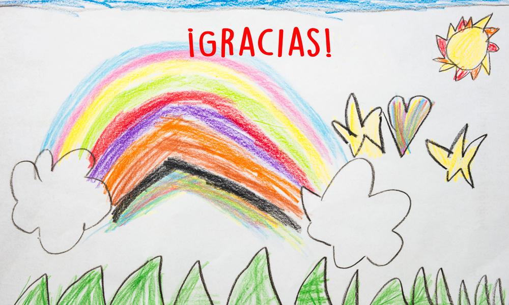 Gracias!: Dibujos infantiles solidarios para los héroes del ...