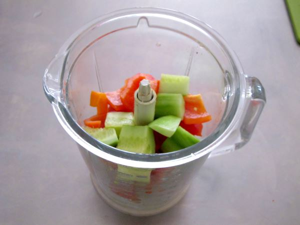 Receta infantil de gazpacho casero paso 8