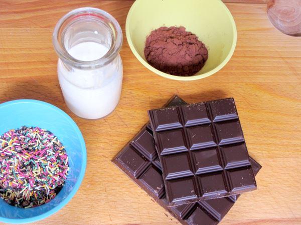 Ingredientes Receta de trufas de chocolate negro