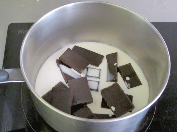 receta trufas de chocolate paso 1