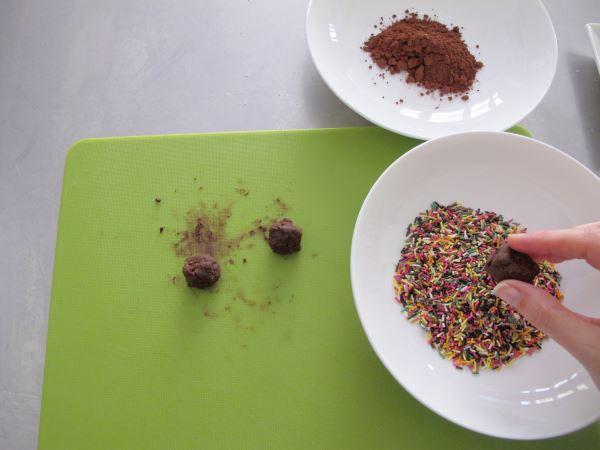 Receta de trufas de chocolate paso 2