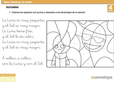 62c0fca0b2 Ejercicio de lenguaje para niños. Reconocer una canción