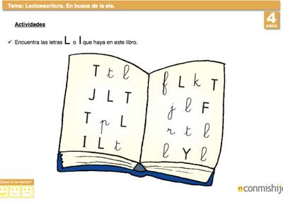 Busca La Letra L Ficha De Lectoescritura Para Niños