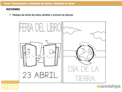 Completa El Cartel Ficha De Lengua Para Niños