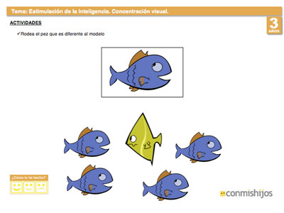Ficha para aumentar la concentraci n visual en los ni os - Colores para la concentracion ...