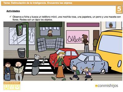 Ficha De Atención Encuentra Los Objetos Escondidos En La Imagen