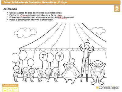 Examen de matemáticas para niños de 5 años