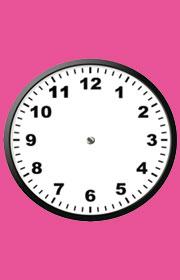 Fichas de medidas para niños. Problemas con el reloj