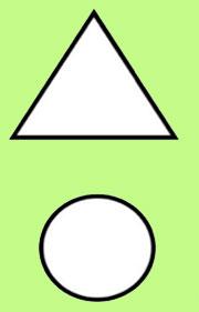 Las figuras planas. Ficha de geometría para niños