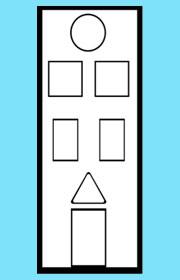 Triángulos y cuadriláteros. Ficha de geometría para niños