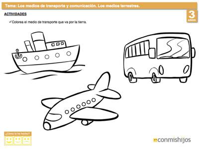 Dibujos De Transportes Para Niños Pin — Sceneups