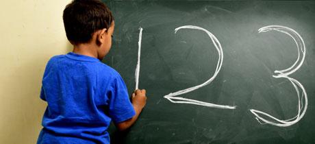 Ejercicios de los números para niños de 3 años