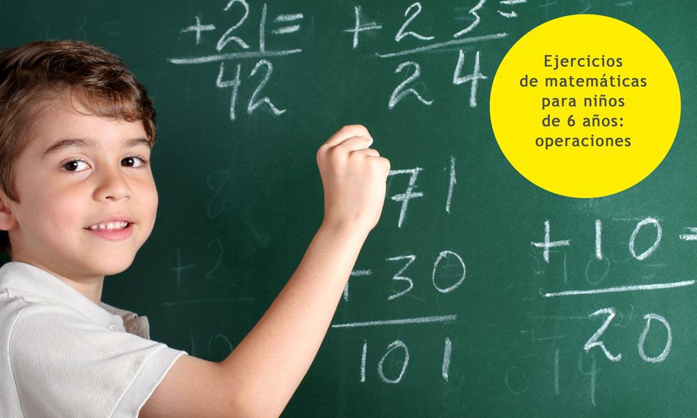 Operaciones matemáticas para primero de primaria