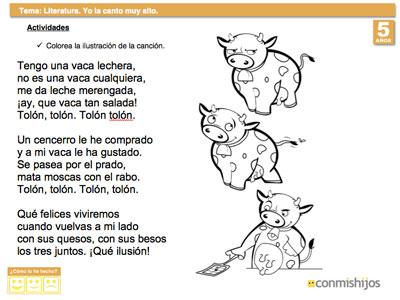 Ejercicio de lengua para que los niños aprendan a recitar una poesía