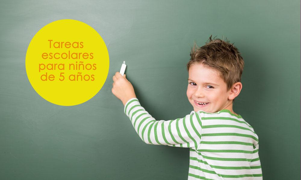 Tareas escolares para niños de 5 años