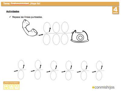 ... lectoescritura aprender a escribir hacer trazos trazos en bucle
