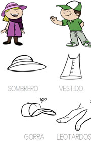 Prendas De Vestir Ficha Escolar Para Ampliar Vocabulario on Aprender Las Prendas En Ingles
